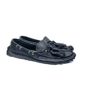 Coach Black Nadia leather driving loafer 5.5